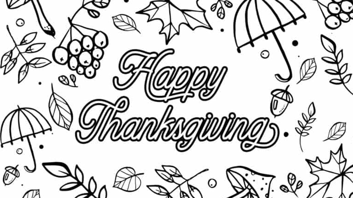 Color me thanksgiving card