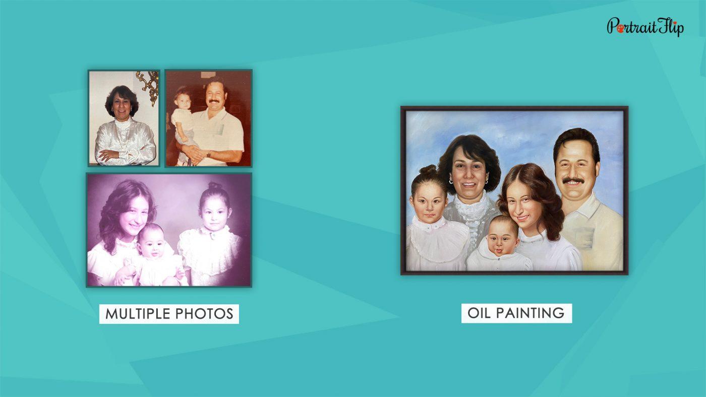 Photo to handmade painting PortraitFlip