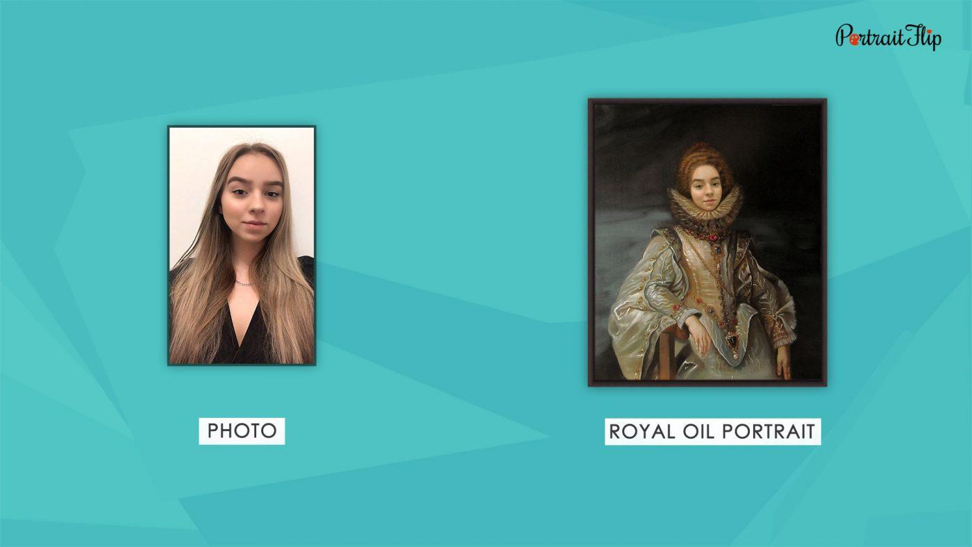 Photos To Royal Handmade Painting