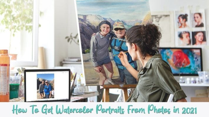 ways to get watercolor portrait by
