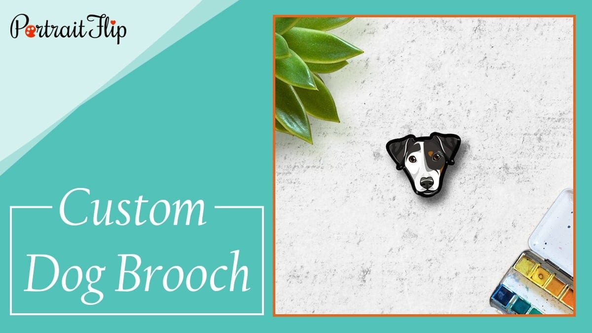 Custom dog brooch