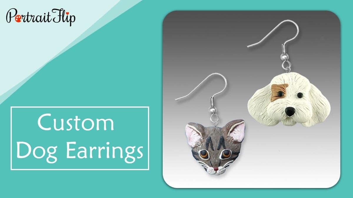 Custom dog earrings
