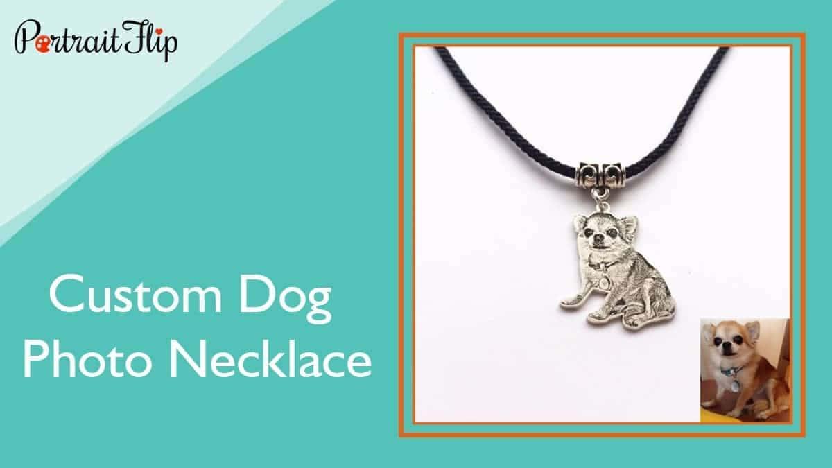 Custom dog photo necklace