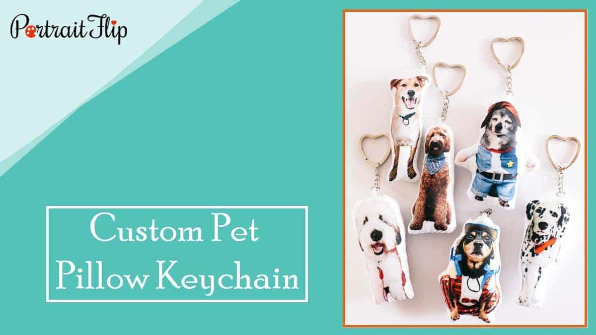 Custom pet pillow keychain