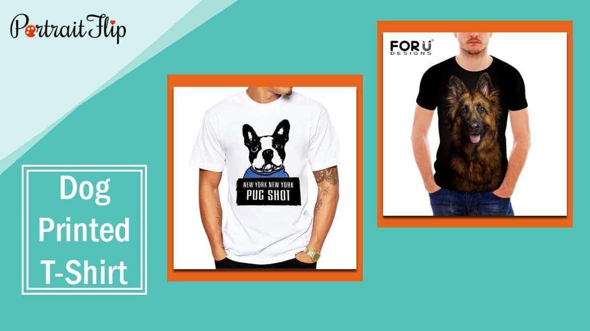 Dog printed t shirt