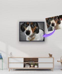 dog oil portrait