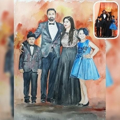 Full family painting