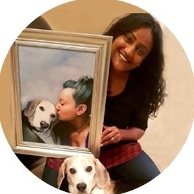Human portrait painting Shilpa Bransgrove