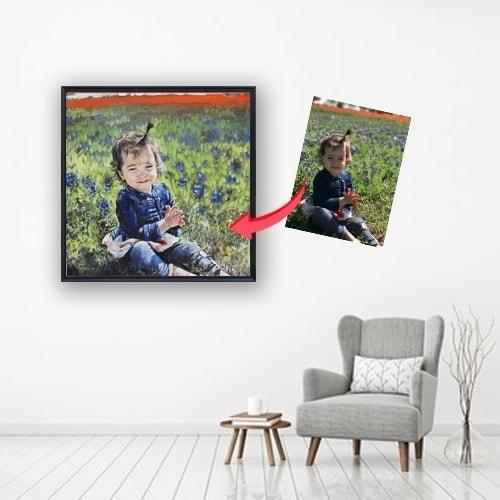 kid oil portrait