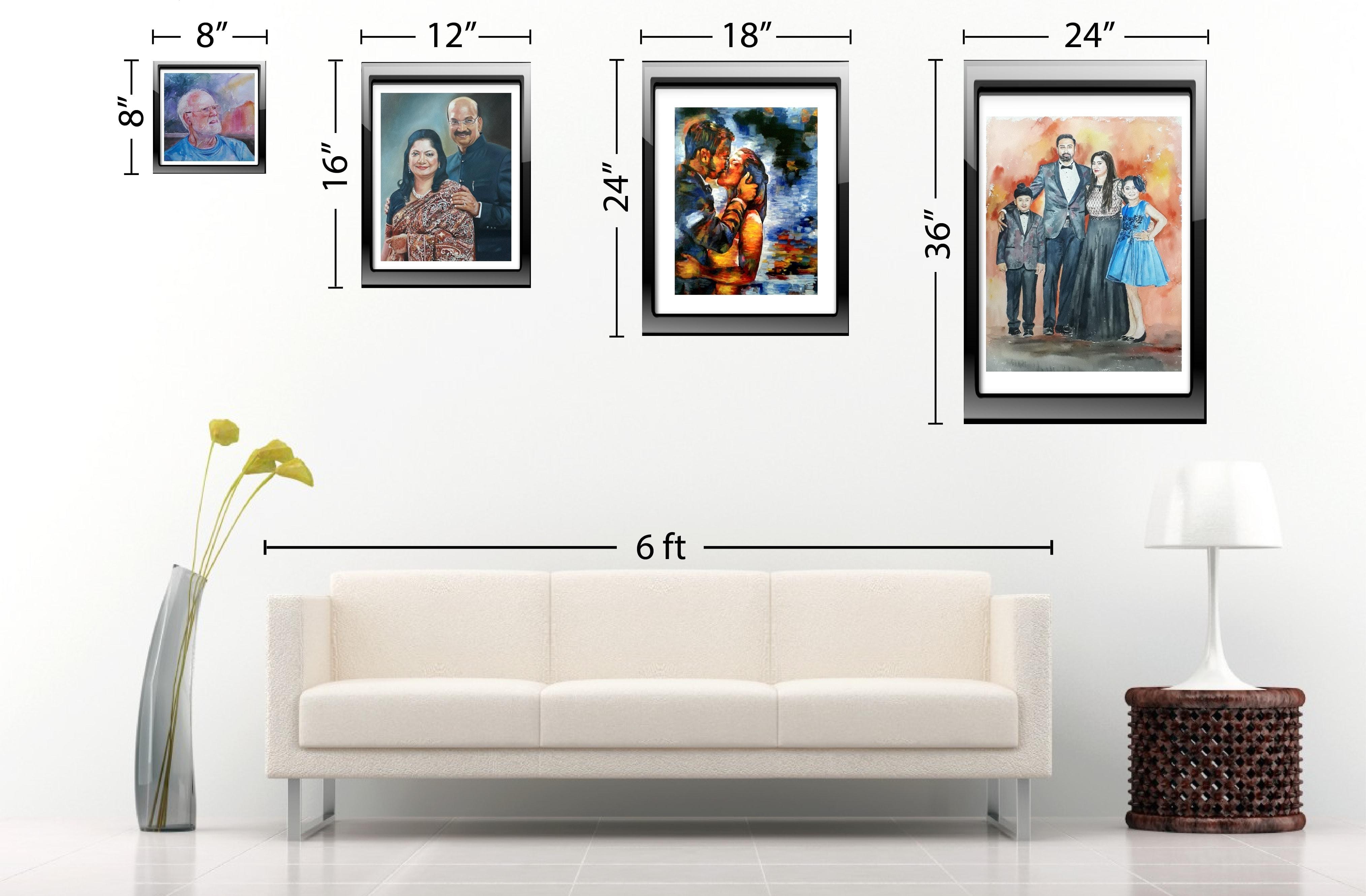 Size Chart | Frame Sizes | Painting Sizes | PortraitFlip ...