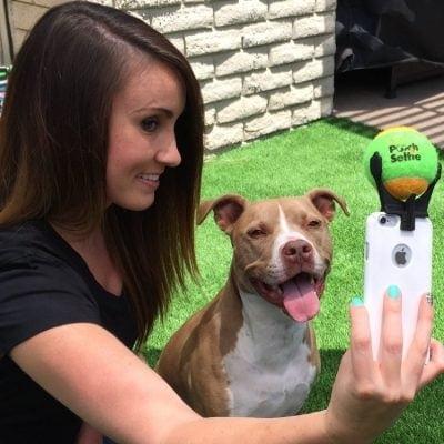 Pooch selfie ball